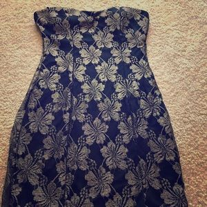 Strapless outing dress